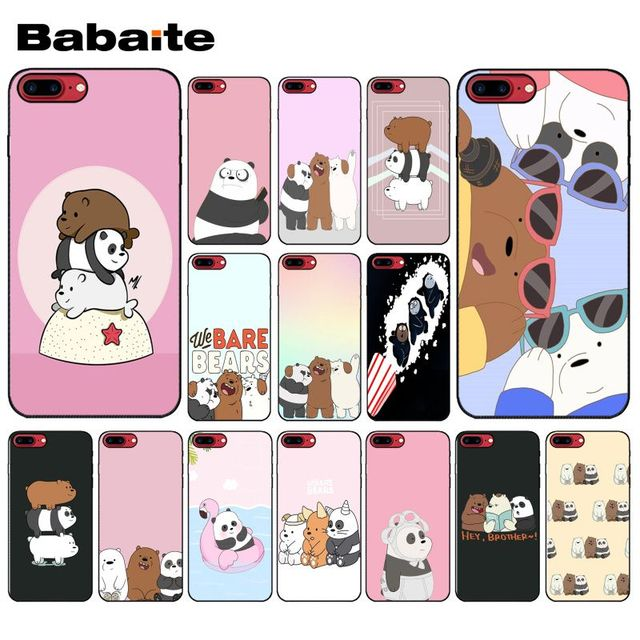 designer fashion e2ede f5223 US $0.49 51% OFF|Yinuoda we bare bears miniso TPU black Phone Case Cover  Shell for Apple iPhone 8 7 6 6S Plus X XS MAX 5 5S SE XR Cover-in ...