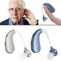 USBRechargeable Mini Digital Hearing Aid Sound Amplifiers Wireless Ear Aids for Ear Hook Hearing Enhancement Aid for Adult Elder