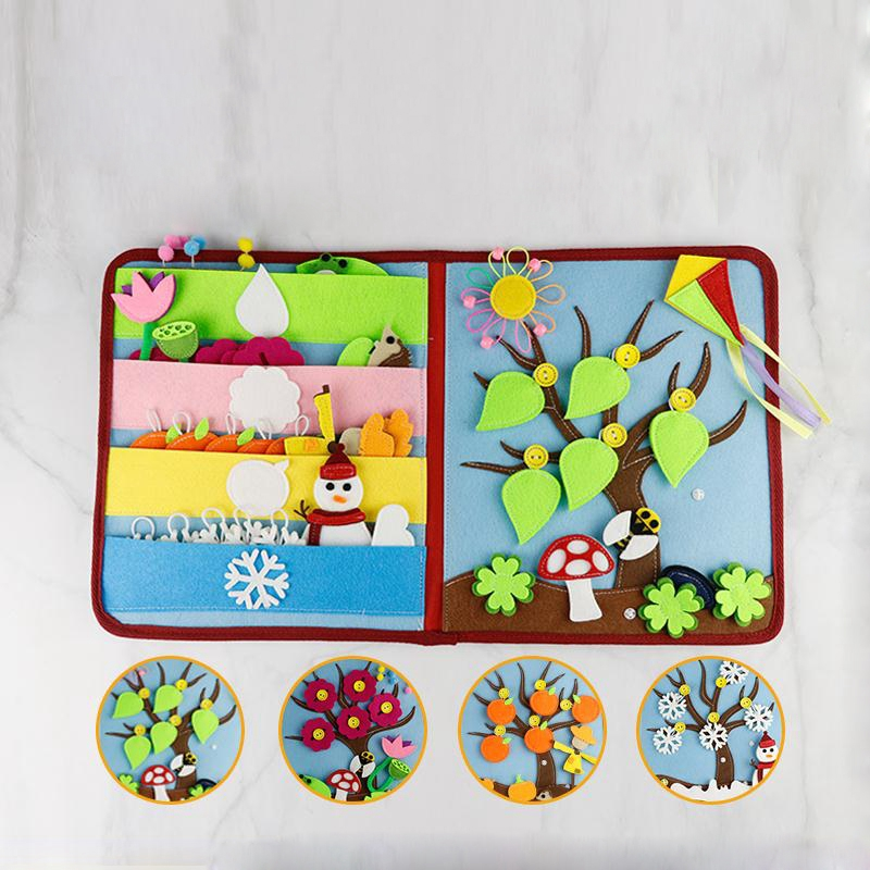 Mamá DIY Montessori mi libro divertido bebé educación temprana primer libro silencioso 21X25CM libro de fotos Manual de trabajo paquete para el embarazo-in Envases DIY from Hogar y Mascotas    2