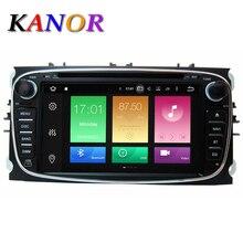 KANOR 2 Din 7 Дюймов Автомобиля Dvd-плеер для Android 6.0 2 Г Для Ford/Focus/S-MAX/Mondeo/C-MAX Восемь Основных Wi-Fi Gps-навигация Радио FM USB