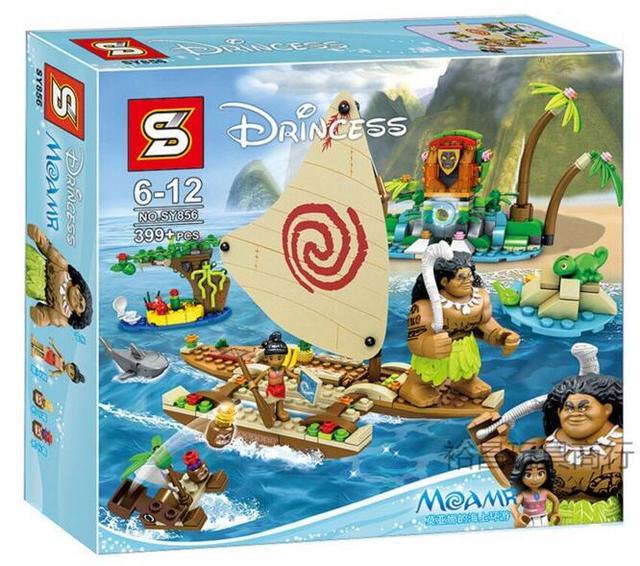 399pcs Moana Ocean Voyage Building Figure Block Toy Set Compatible ...