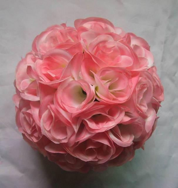 Spr free shipping 30cm coral silk flower wedding kissing ball spr free shipping 30cm coral silk flower wedding kissing ball wedding curtain decorations optional color mightylinksfo