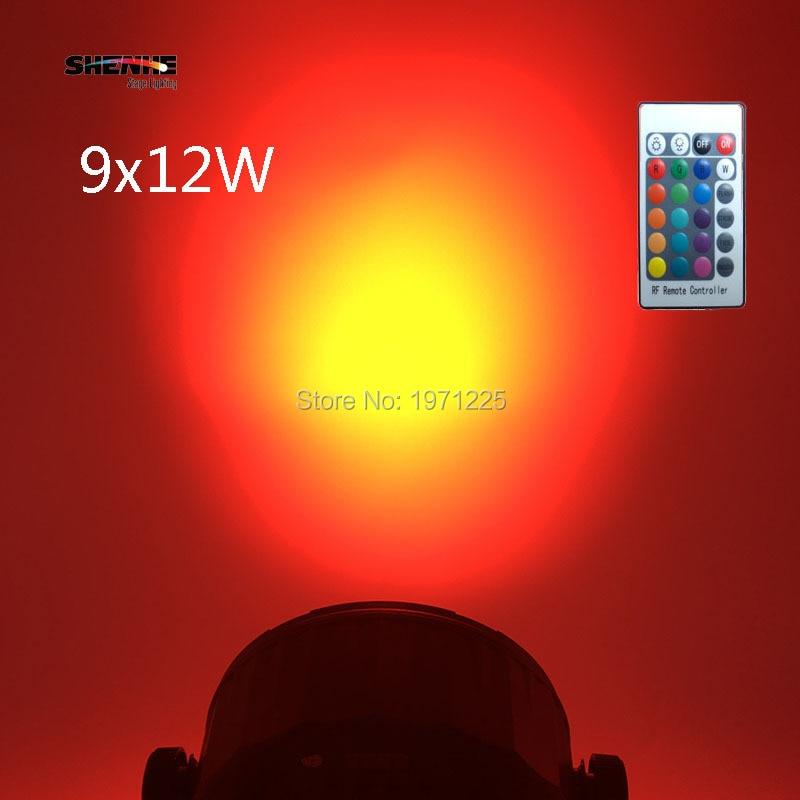 (4pcs) Wireless Remote Control LED Par 9x12W 4in1 Led Stage Par Light DMX Disco DJ Led Lamp with 8 channels niugul dmx stage light mini 10w led spot moving head light led patterns lamp dj disco lighting 10w led gobo lights chandelier