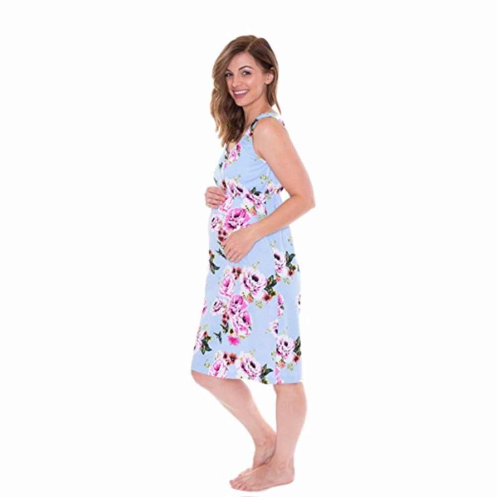 58b95f22a62c0 ... Puseky Maternity Dresses Daily Dress Sleeveless Floral Pregnancy  Clothes Women Lady Elegant Mini Dress Party Wear ...