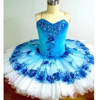 Синяя птица балетные платья АННА SHI Классическая спандекс сценическая пачка, Лихие Для женщин команды Балетные Костюмы Одежда для танцев бл