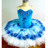 Blue Bird Ballet Dresses Anna Shi Classical Spandex Stage Tutu,Dashing Women Team Ballet Dance Wear Pancake Tutu