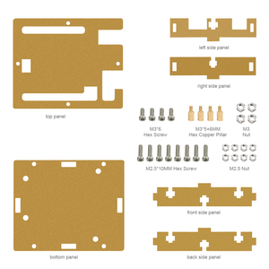 HI-Q Keyestudio One set Transparent Acrylic Box Clear Enclosure for Arduino UNO R3 Case With Screws