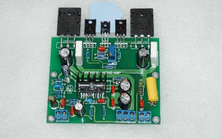 LME49810 100W Mono 8ohm Amplifier Kit With TTA1943 TTC5200