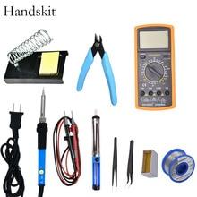 Handskit Electric Soldering Iron Temperature Soldering Iron  Multimeter   Welding