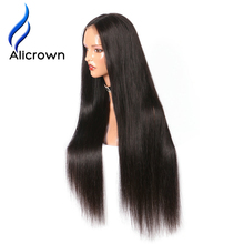 Alicrown 250% Density Lace Front Human Hair Wigs For Black Women Straight Brazilian Remy Hair Pre Plucked Natural Hairline