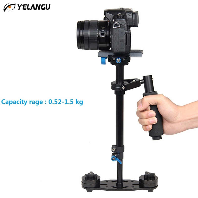 YELANGU S40L 0.4M Steadicam Handheld Tripod Camera Stabilizer Steadycam Minicam Steady Cam for DSLR Camcorder DV Camera Video portable 2 axis handheld stabilizer video gimbal steadicam steady for dslr camera dv bmpcc