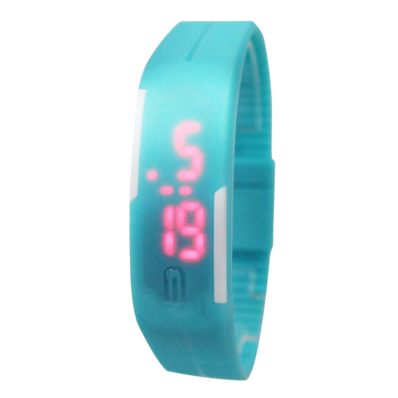купить LED Touch Watch Children Watches Fashion Digital Silicone Jelly stylish Rectangle Kids Watches Wristwatches Clock saat relojes дешево