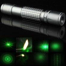 Регулируемый Фокусируемый сжигание 5 в 1 калейдоскоп Звездный мощный зеленый лазерный указатель фонарик с батареей и зарядным устройством