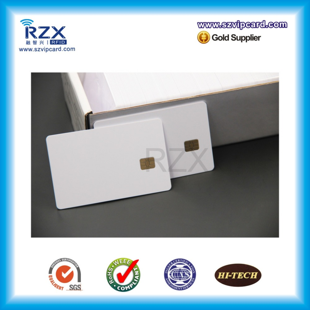 1000PCS Credit Card Size CR80 Contact IC Card PVC White Blank Card With AT24C01 Chip