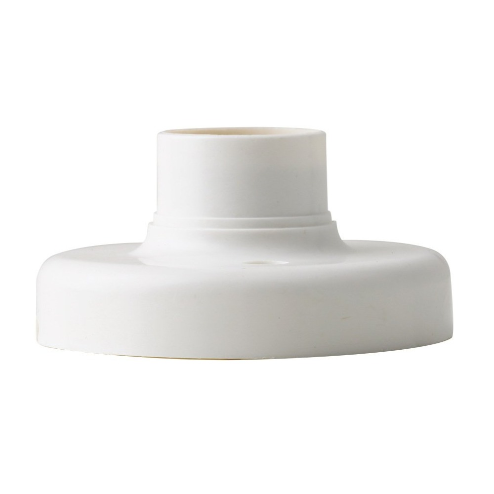 Полезная E27 круглая пластиковая основа винтовая лампочка штекеры патрона лампы белый E27 Цоколь лампы гнездо популярная лампа держатель