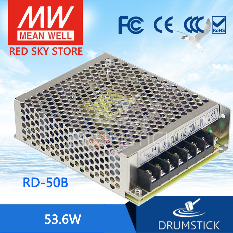 Best-selling MEAN WELL RD-50B meanwell RD-50 53.6W Dual Output Switching Power Supply best selling mean well se 200 15 15v 14a meanwell se 200 15v 210w single output switching power supply