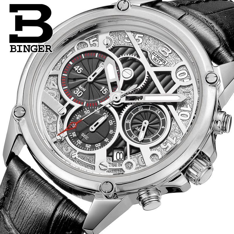 Здесь продается  Switzerland watches men luxury brand Wristwatches BINGER Quartz men