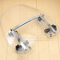 Neverland 18x16 Clear Motorcycle Windshield Screen For Harley Dyna Softail Sportster Road King 70 12 D30