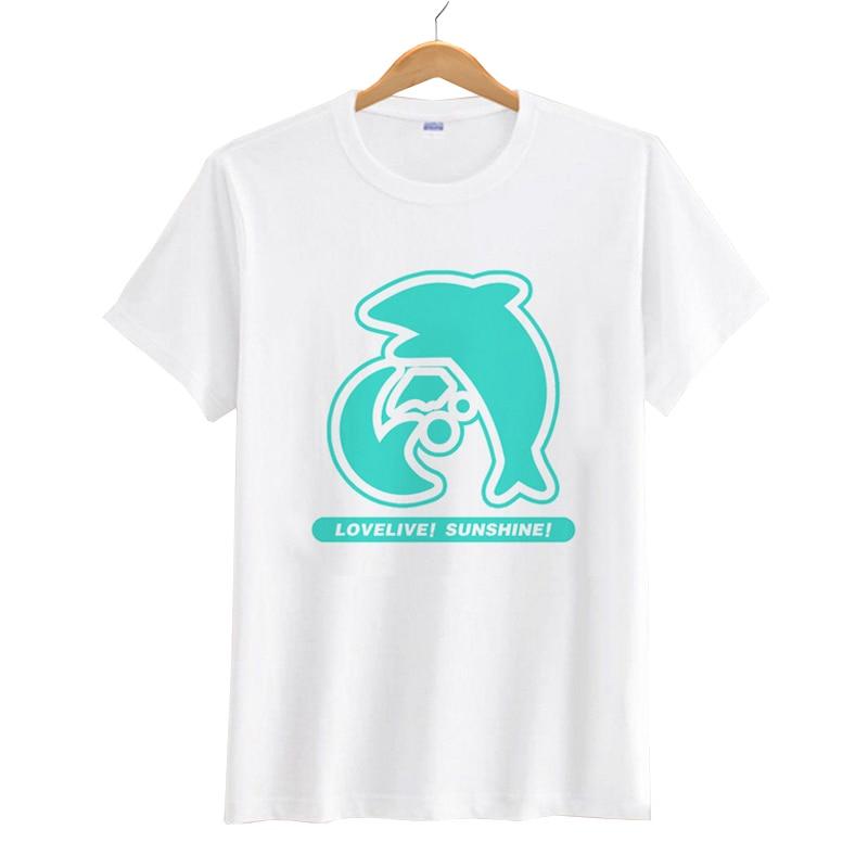 LoveLive Sunshine   T  -  shirt   Japanese Anime Love Live Nico Yazawa Cosplay Short Sleeve   T     Shirt   Summer Cartoon Unisex Top Tees Cloth