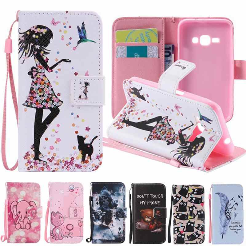 For Coque Samsung Galaxy J1 2016 Case Flip Leather & Silicon Cover ...