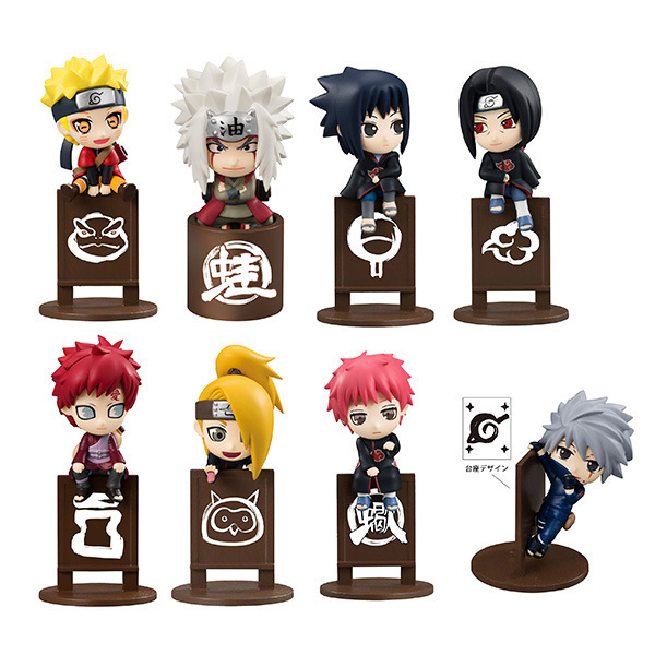 8pcs/set Naruto Jiraiya Kakashi Mini Gaara Itachi Doll PVC Action Figure Collectible Model Toy 4cm KT3818