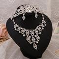 New jewelry bridal wedding dress three-piece crown necklace earrings wedding accessories brand indian jewelry wedding dress