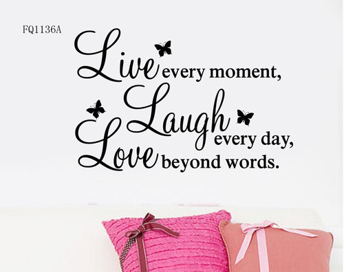 DIY Live Laugh Love Quote Vinyl Decal Removable Art Wall Stickers Enchanting Live Laugh Love Quotes