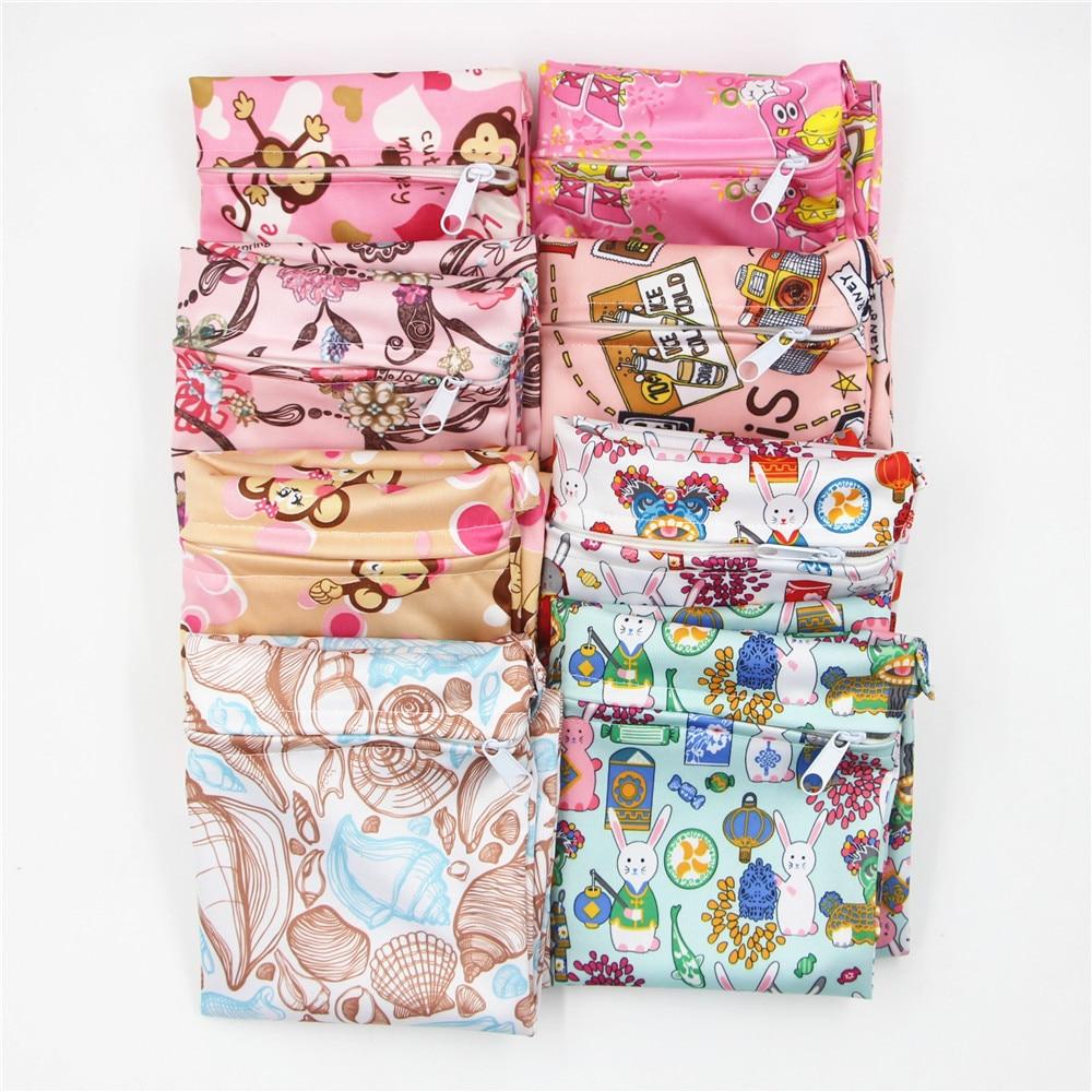 HTB1a6VwaorrK1RkSne1q6ArVVXaP Cute Cartoon Striped Baby Diaper Bag Waterproof Travel Maternity Small Wet Bags for Mommy Storage Stroller Accessories 28*30cm