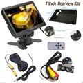 Новый Высокое Качество 7 Дюймов TFT LCD Заднего Вида Автомобиля Монитора в Подголовнике Сиденья 2 Видео Вход с Водонепроницаемой IP67-IP68 420TVL Камера Заднего Вида