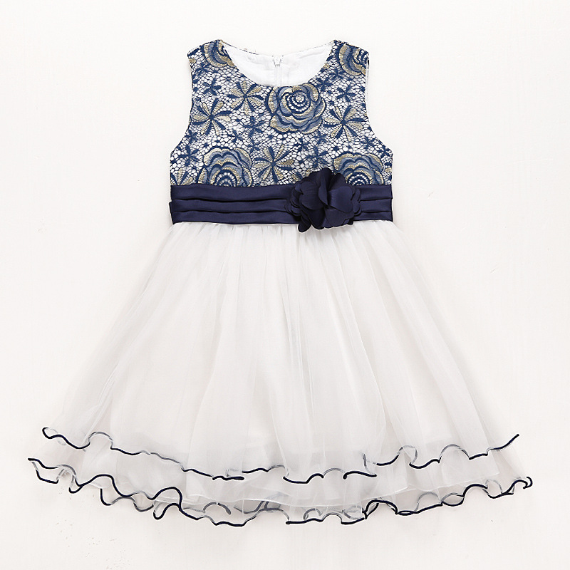 Flower Girl Dresses Ball Gown for Wedding Birthday Party Lace Dress for Girls Toddler Junior Children Dress 4-9T