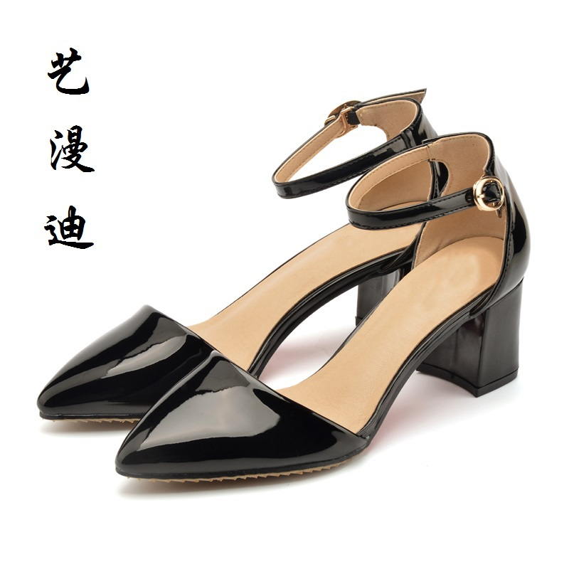 2017 Small Size 31-43 Patent Leather Sexy Women Sandals High Heels Ladies Pumps Shoes Woman Summer Style Chaussure Femme 32 33  newest summer style woman pumps shoes high quality ladies high heels basic shoes for party free shipping size 37 43