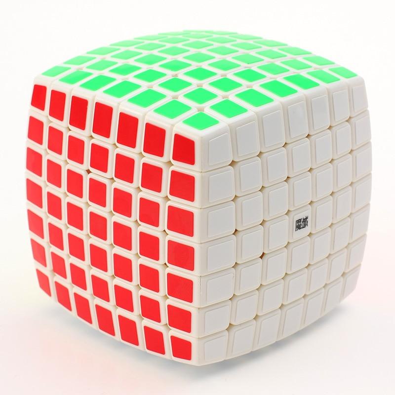 YJ MoYu AoFu 7X7X7 Speed Puzzle Cube Blanc/Noir Autocollants Professionnel Twist Cubes Cubo Magico classique D'apprentissage Jouets Éducatifs