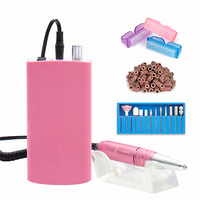 30000RPM Rechargeable Nail Drill Machine Portable Electric Nail File Manicure Pedicure Machine with 11 Drill Bits,Sanding Bands