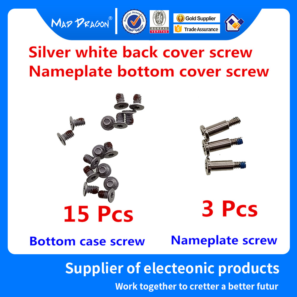 15 lower cover screws 3 nameplate screws for Dell XPS 13 9370 9375 XPS 15 9570