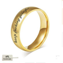 цена на APL-Stainless Steel Classic Ring Gold/Silver Motivation Ring for Men and Women Popular Jewelry