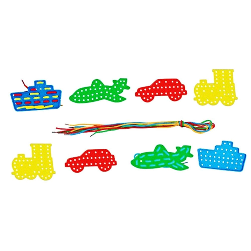 1pc Children's Early Education Training Hand Coordination The Fruit Trees Threading Plate Beaded Wisdom Tree Board Toys Randomly