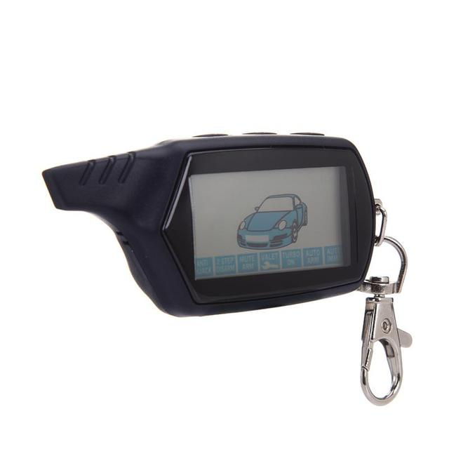 Special Offers Car Anti-theft Remote Control B6 2 Way Car Alarm System Russian Versio LCD Screen Remote Control Keychain For Starline B6 1PC J2