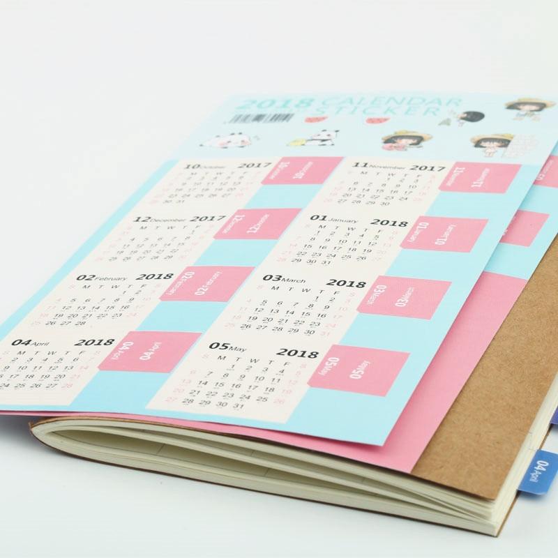 Kalender 1 Stücke Nette Cartoon Wand Kalender 100 Tag Anime Yin Yang Master Kalender Kreative Schreibwaren Zeitplan Planung Papier Liefert Office & School Supplies