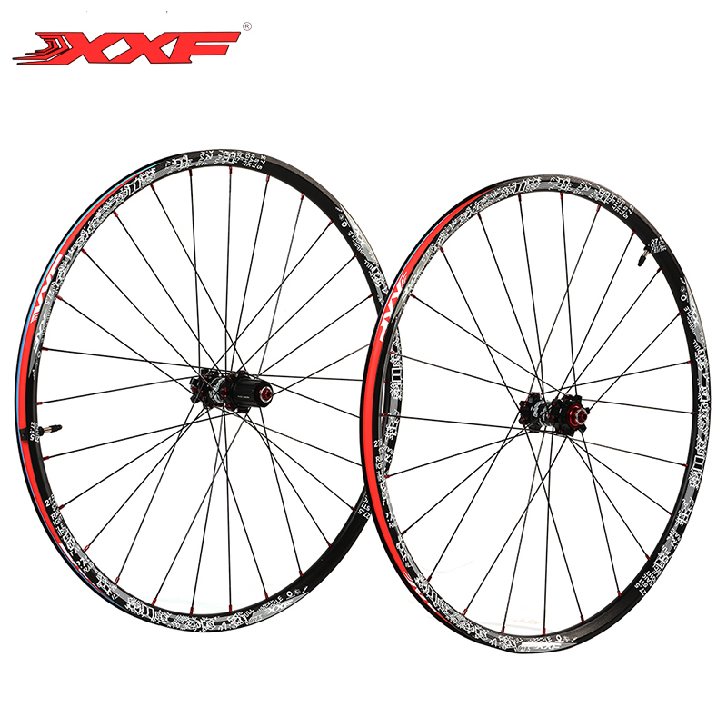 XXF 27.5 inch MTB Mountain Bike Wheel Bicycle Parts Cycle Wheelset Aluminum Alloy Ultralight Wheel Set & 4 Bearings Hub Black chosen aluminum mountain bike hubs set wheel hub front and rear skewers quick releas disc brake hub 4 bearings 90 ring 32 hole