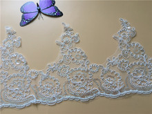 9Yards Corded Embroidery Bridal Lace Trim Wedding Dresses DIY Sequins Embroidered Accessories For Gown Veil
