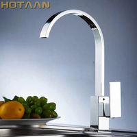 Free Shipping Brass Quality Guarantee Kitchen Tap Kitchen Mixer Square Swivel Kitchen Faucets YT 6036