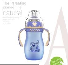 Colorful cartoon milk bottles(A004);Gravity Ball straw & Anti-Colic nipple cover;Temperature sensitive