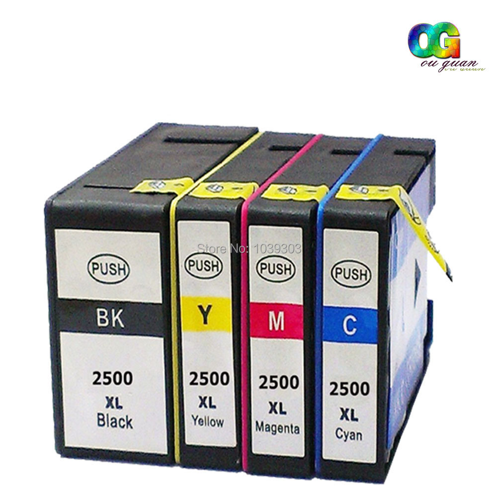 4 Compatible Pgi2500 Xl Ink Cartridges With Chip Pgi 2500xl For Canon Cartridge 29 Photo Magenta Maxify Ib4050