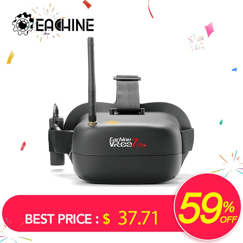 Eachine VR-007 Pro VR007 5.8G 40CH FPV Goggles 4.3 Inch With 3.7V 1600mAh Battery for RC DroneEachine VR-007 Pro VR007 5.8G 40CH FPV Goggles 4.3 Inch With 3.7V 1600mAh Battery for RC Drone