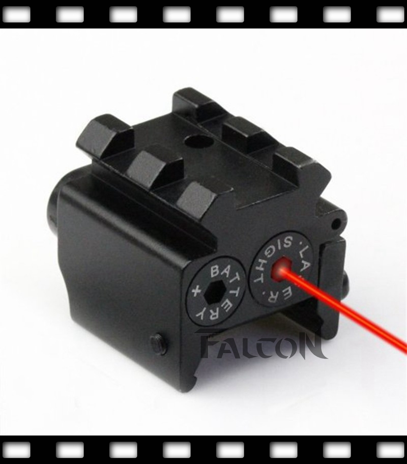 Hot Compact 650nm Red Laser Sight Dual Weaver Rail Mount For 1911 M9 G17 19 20