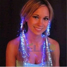 Fast Shipping 1pcs 35cm LED Lighting Hairgrip Blinking Hair Braid Led Accessories Light-Up Toys(China)
