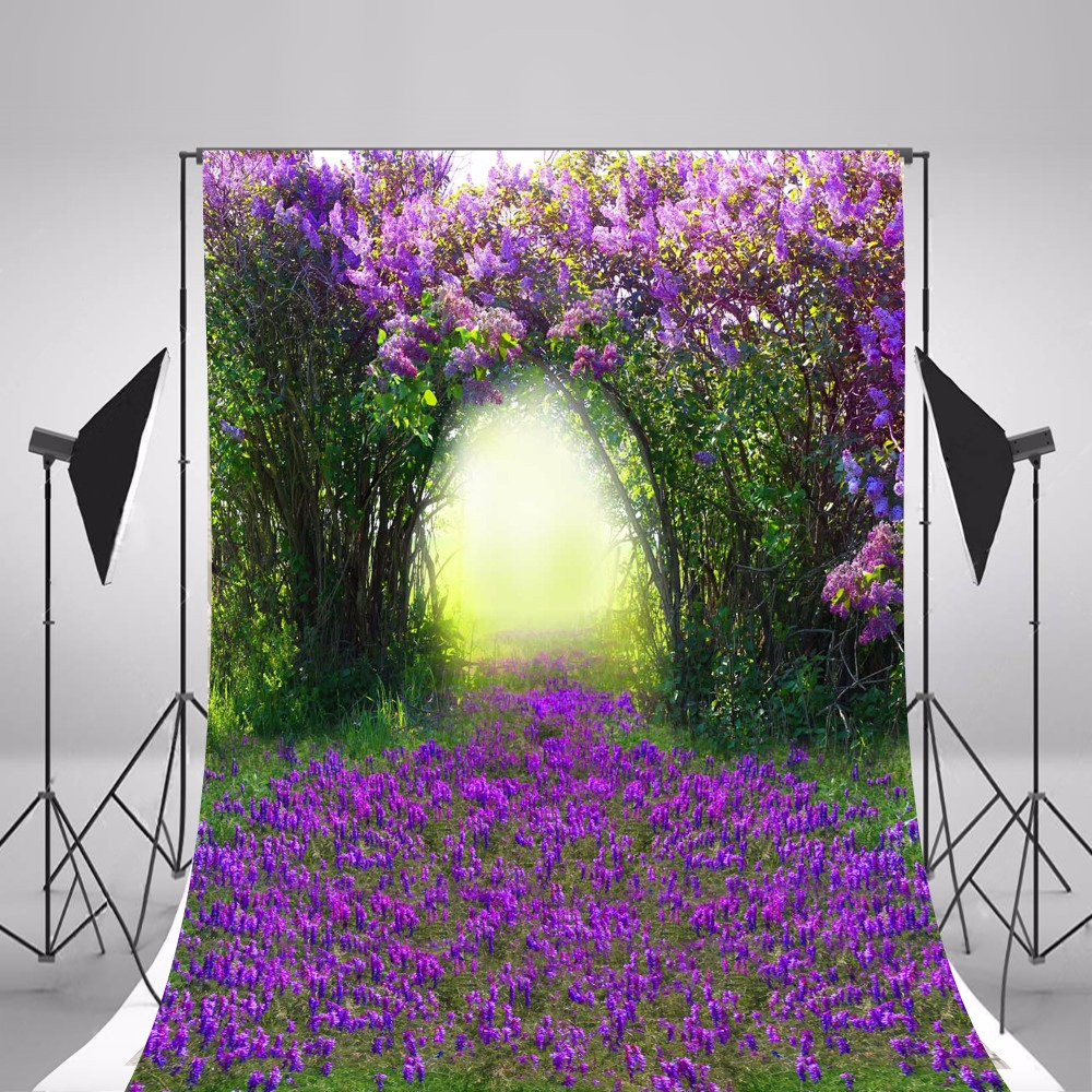 2017 Children Photographic Backgrounds Spring Purple Flowers Photo Backdrops Vinyl Backgrounds For Photo Studio Fundo Fotografia new arrival background fundo hydrant balloon flowers 600cm 300cm width backgrounds lk 2982