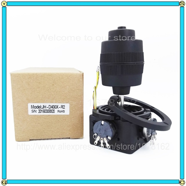 1pcs 4-axis potentiometer Joystick JH-D400X-R2 400 series Rocker hall dimensional resistance 5K sealed with button joystick