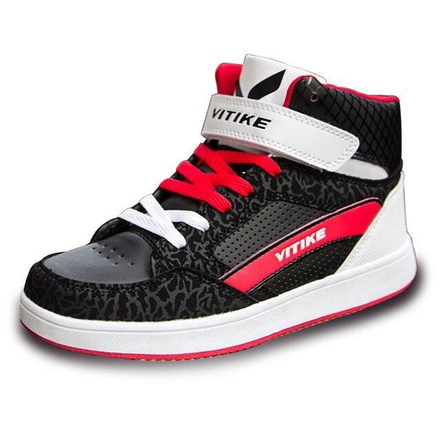 CSXD Jeunes Enfants Garçons Filles Skate Vans Chaussures Enfants Sk8-salut Noir et Blanc En Cuir Toile Sneakers Skate Formateurs 2017 Nouveau