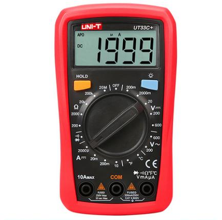 Competent New Uni-t Ut33c+ Digital Multimeter Dc/ac V/a Cap Frequency Res Diode Tester Ut 33c Manual Lcd Meter Ammeter Multitester 2019 New Fashion Style Online